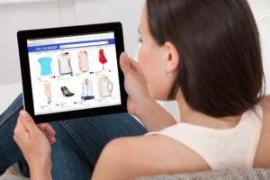 online shopping from a tablet