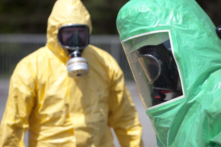 people wearing protective equipment